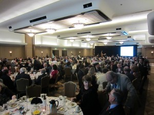 A rather big room for such a short speech